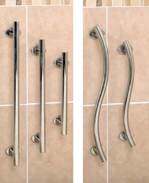 stainless steel straight and curved grab rails