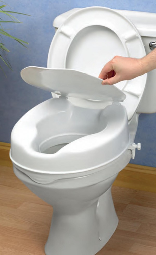 Savanah 4 inch Raised Toilet Seat with lid