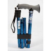 folding walking stick gel grip a
