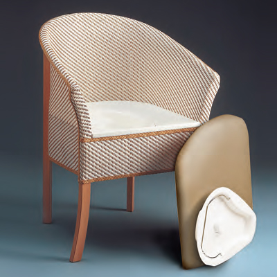 attractive woven commode chair