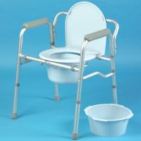 Folding Commode and Toilet Surround