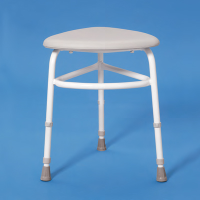 tripod corner shower stool