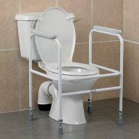 steel height adjustable toilet frame