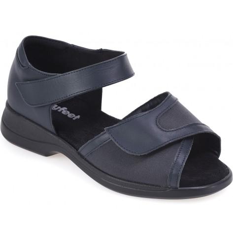 cosyfeet navy blue hop sandal