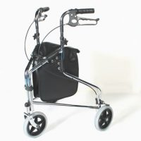 Tri Wheel Walker with Brakes Chrome Plated