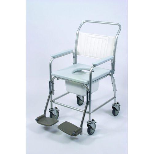 wheeled aluminium shower commode
