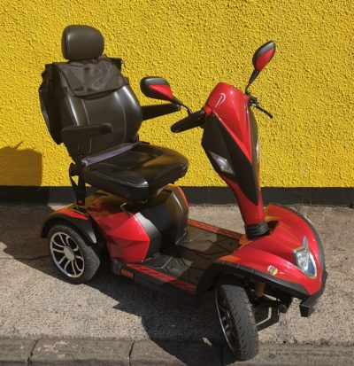 reconditioned Drive Cobra red class 3 road mobility scooter front view