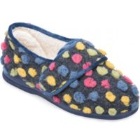 cosyfeet blue spot holly slipper