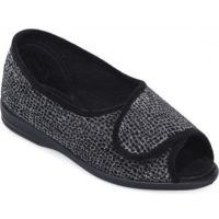 cosyfeet black silver sparkle shimmer shoe
