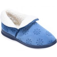 cosyfeet blue snowflake snoozy slipper