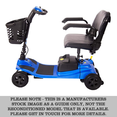blue liberty mobility boot scooter