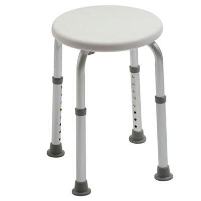 adjustable round bathing stool