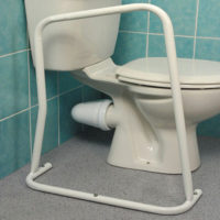 strong metal toilet frame