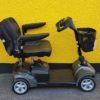 reconditioned Rascal Veo sliver grey class 2 boot mobility scooter side view