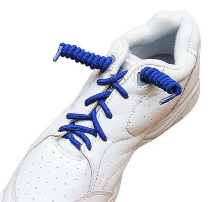shoe with coiler elastic shoe laces