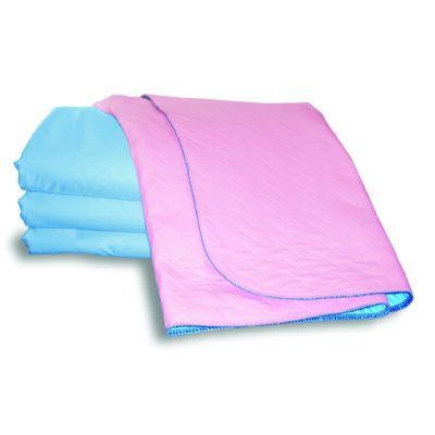 pink blue waterproof incontinence bed pad