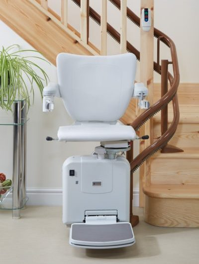 Handicare 2000 Curved Stairlift with Style Seat